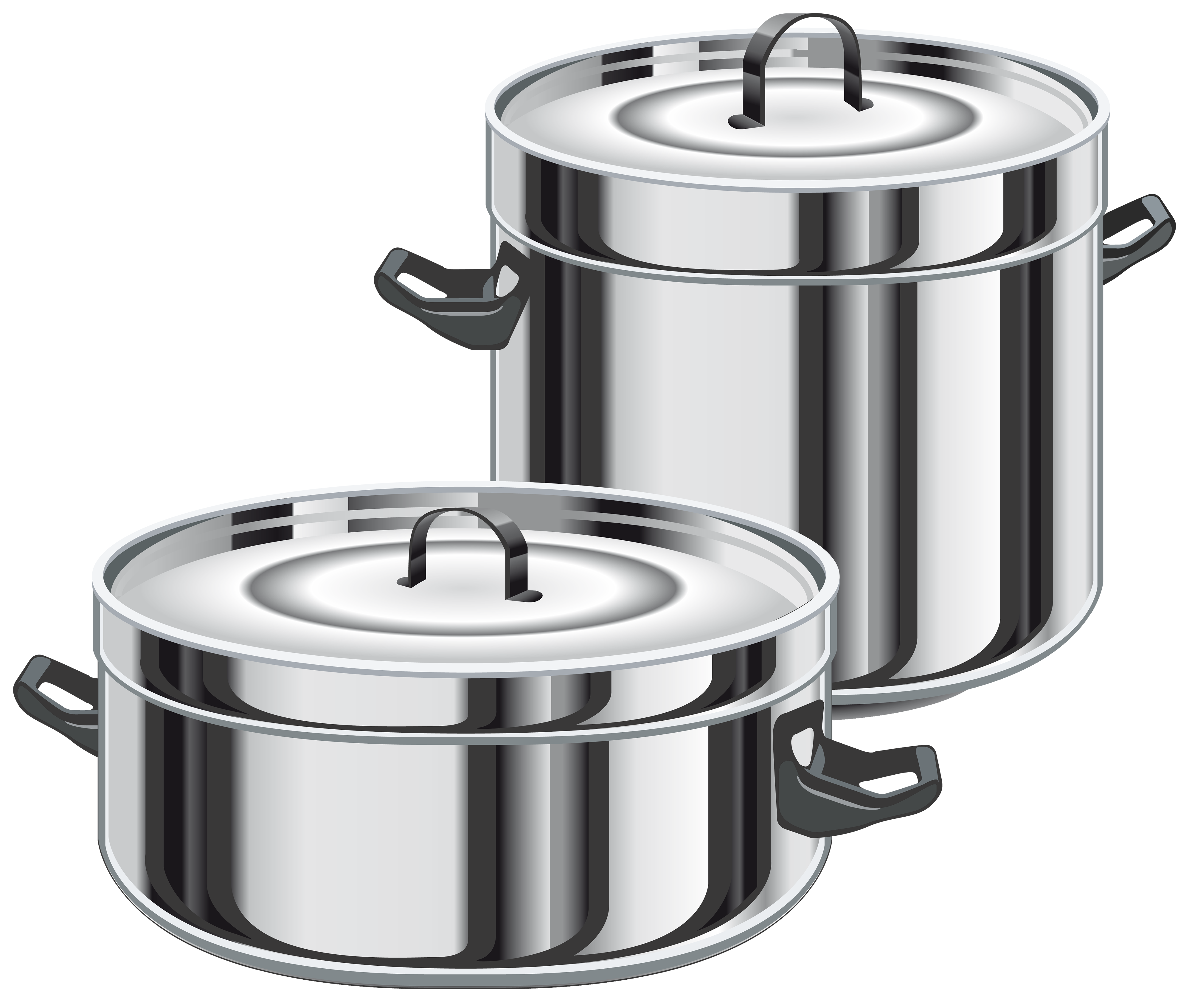 Cooking Pots PNG Clipart.