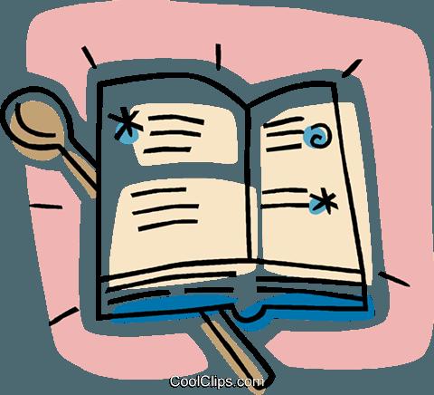 cookbook Royalty Free Vector Clip Art illustration.