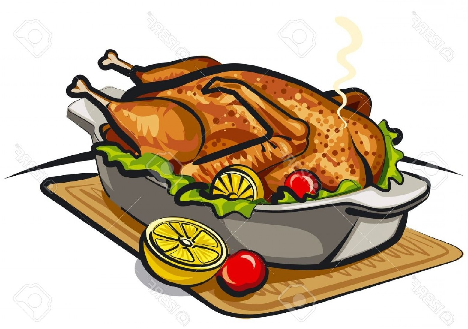 Cooked Chicken Clipart.
