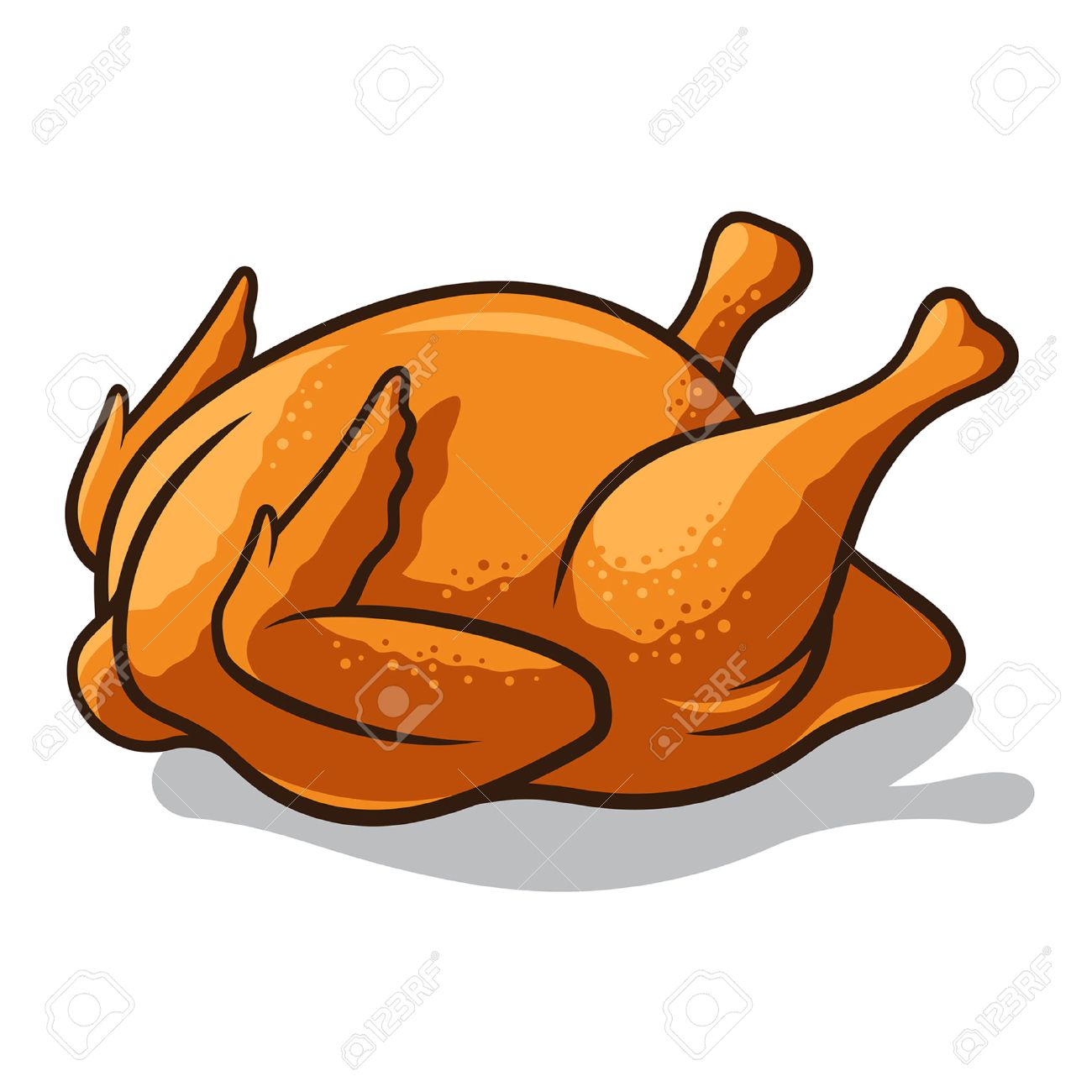 Roasted chicken clipart 6 » Clipart Station.