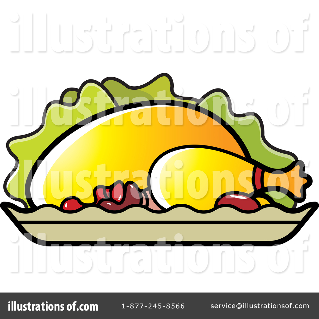 Roasted Chicken Clipart #1434787.