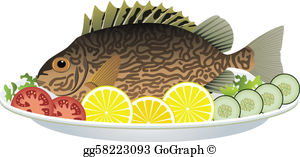 Cooked Fish Clip Art.