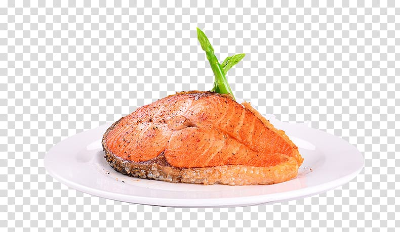 Smoked salmon Dish Poisson distribution Fish Seafood, A fish.