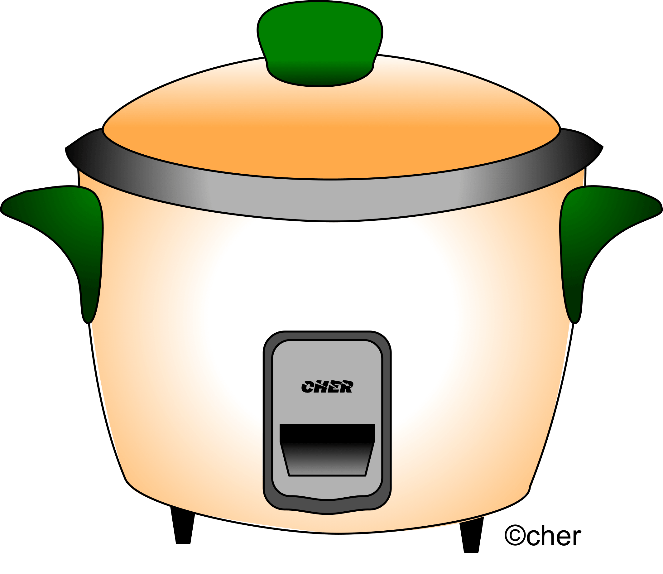 Rice cooker clipart.
