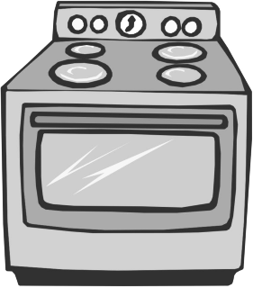Cooker Cartoon Clipart.