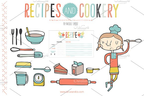 Cookery (Clipart) ~ Graphics on Creative Market.