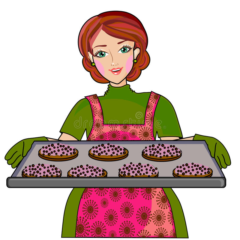 Baking Cookies Stock Illustrations.