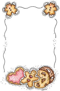 cookie border clipart.