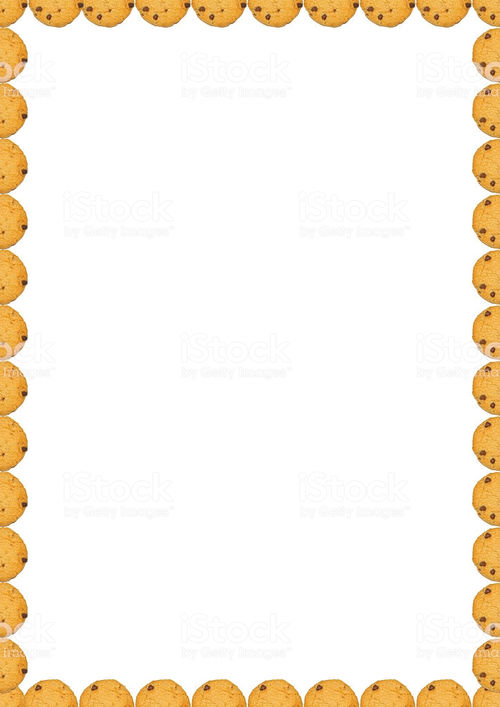 Frame Chocolate Chip Cookies Page Border Stock Photo.