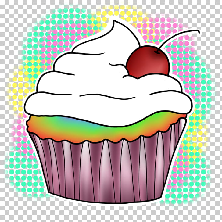 Cupcake Rainbow cookie, cake PNG clipart.