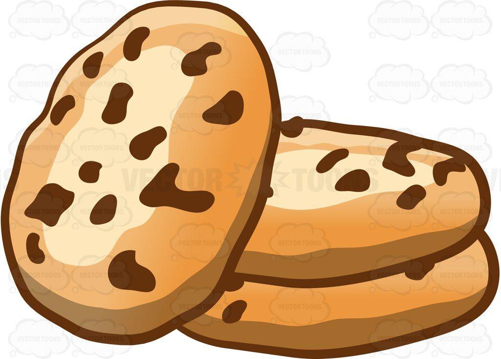 Yummy chocolate chip cookies #cartoon #clipart #vector.