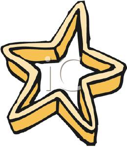 Star Shaped Cookie Cutter Clipart Picture.