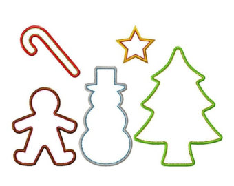 Christmas cookie cutter clipart.
