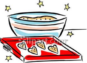 Bowl of Sugar Cookie Dough.