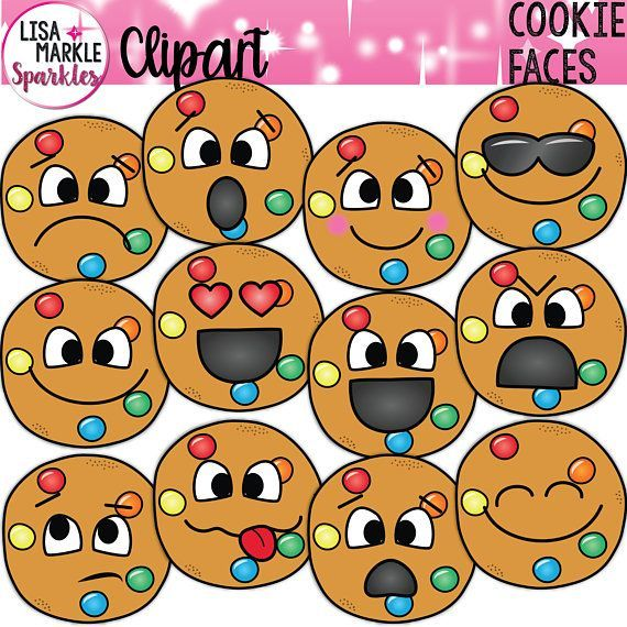 Emoji Emotion Candy Cookie Face Clipart Illustration for.
