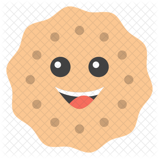 Smiley Cookie Emoji Icon.