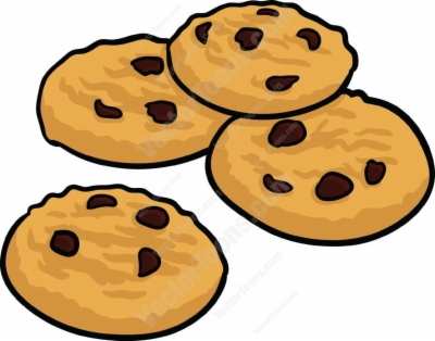 chocolate chip cookie , Free clipart download.