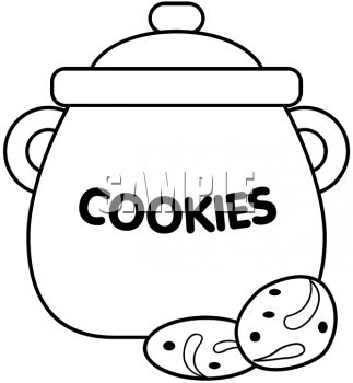 Cookie jar clipart black and white.