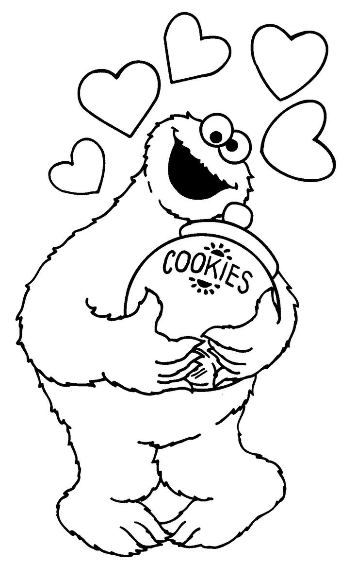 Free Cookie Monster Black And White, Download Free Clip Art.