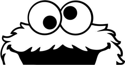 Cookie monster black and white clipart 1 » Clipart Portal.