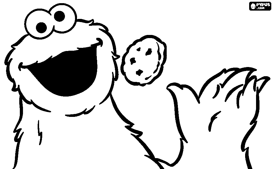 Cookie Coloring Pages.