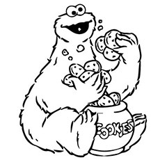 Cookie monster black and white clipart 7 » Clipart Portal.