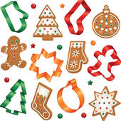 Cookie Shapes Clip Art.
