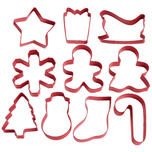 Holiday Shapes 10 pc. Cookie Cutter Set.