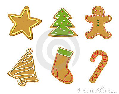 Christmas Cookies Shapes Royalty Free Stock Photo.