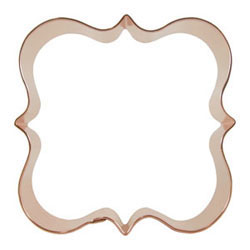 Shapes cookie cutters cookie cutter fancy plaque square 4 copper.