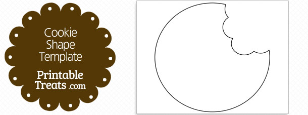 Printable Cookie Missing Bites Shape Template — Printable Treats.com.
