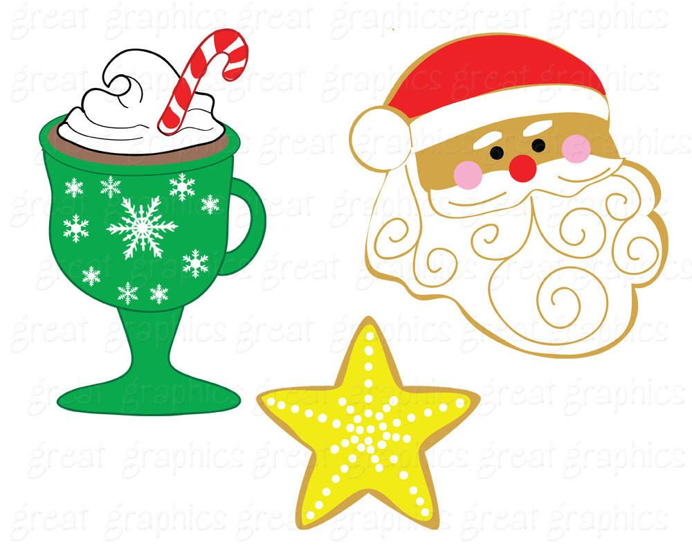 Christmas Clip Art Christmas Cookie Swap Clipart Printable Christmas  Digital Clip Art Christmas Party.