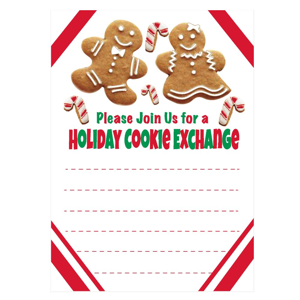 Holiday Cookie Exchange Invitations.