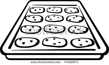 Similiar Black And White Cookies On Tray Clip Art Keywords.