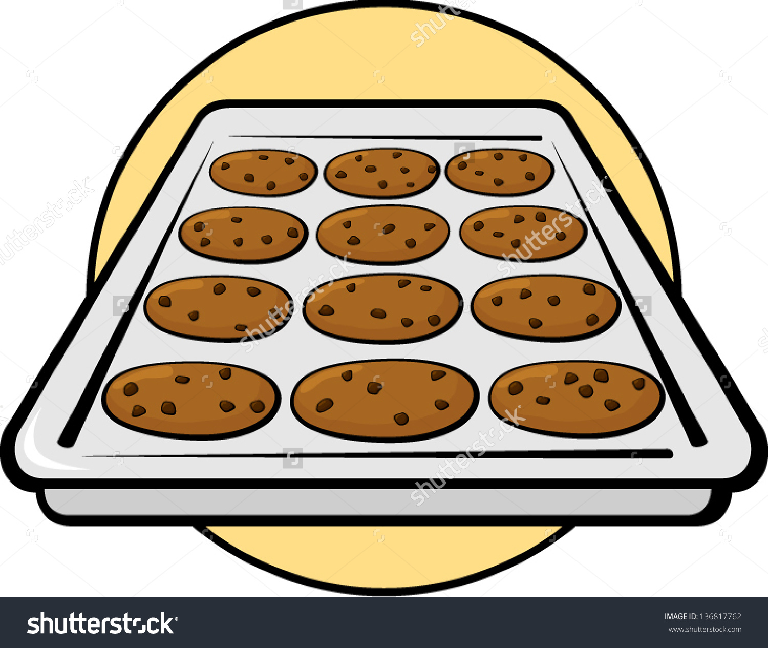 Cookie Tray Clipart.