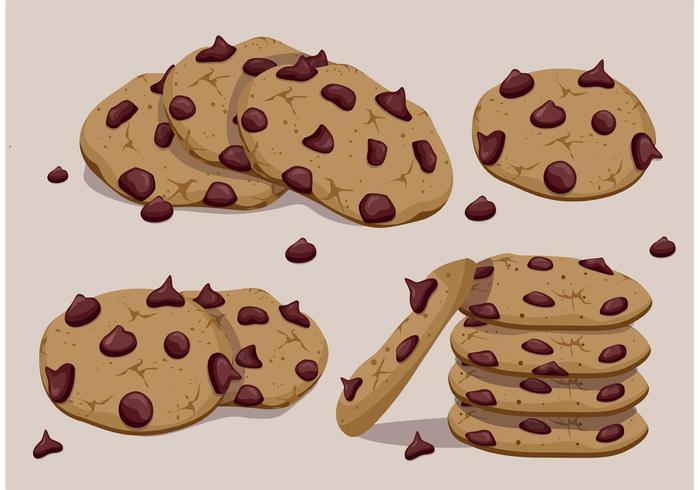 Chocolate Chip Cookies Vectors.