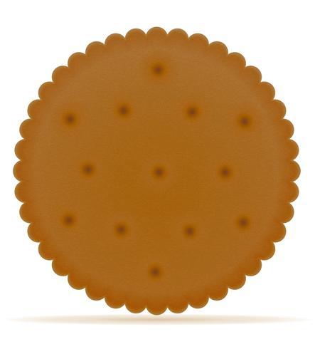 crispy biscuit cookie vector illustration.
