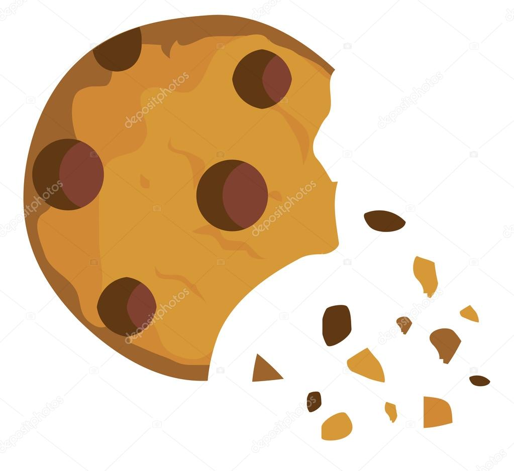 Vector Chocolate Chip Cookie — Stock Vector © lilac.
