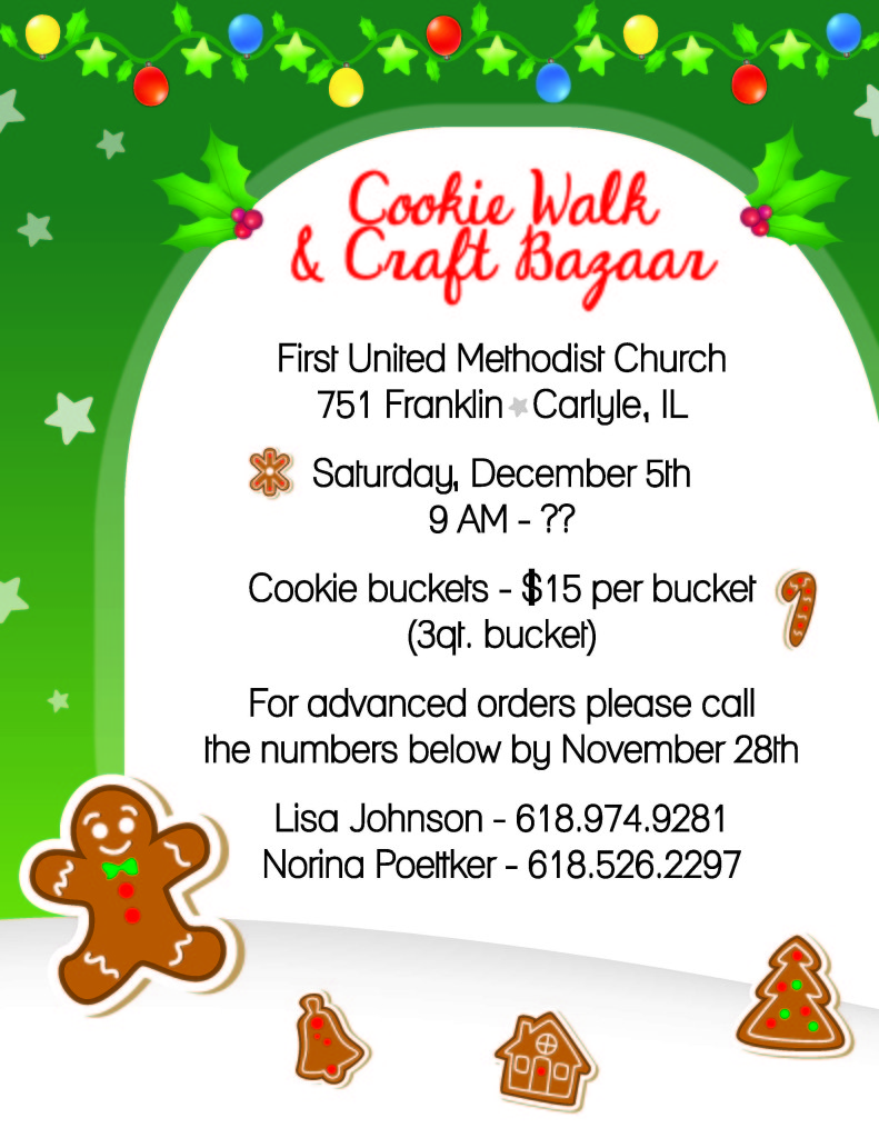 Christmas Cookie Walk and Bazaar.
