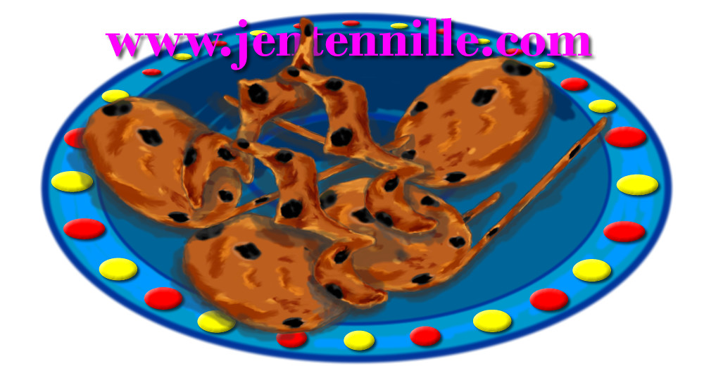 Music Note Cookies Plate Clipart.