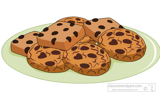 Cookies and brownies clipart Transparent pictures on F.
