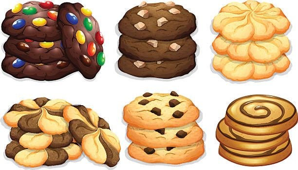 Background Of The Sugar Cookies Clip Art, Vector Images.