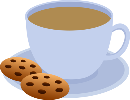 Hot Chocolate And Cookies Clipart.