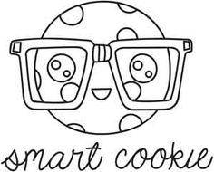 Image result for smart cookie clipart black and white.