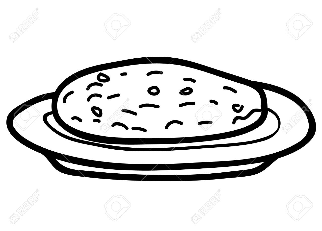 Plate Of Cookies Clipart Black And White & Clip Art Images #10459.