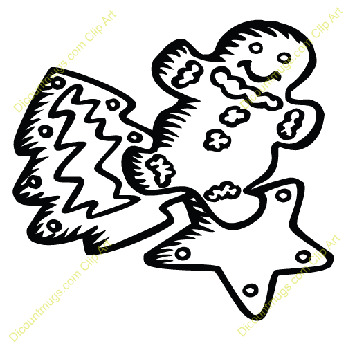 Cookie Clip Art Free Black And White.