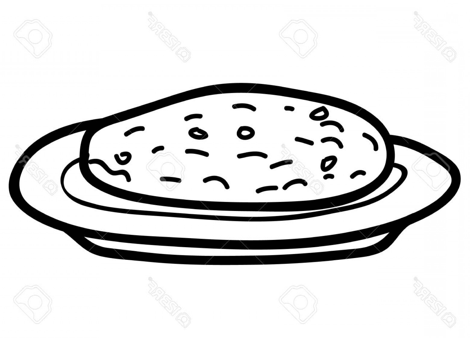 Plate Of Cookies Clipart Black And White.
