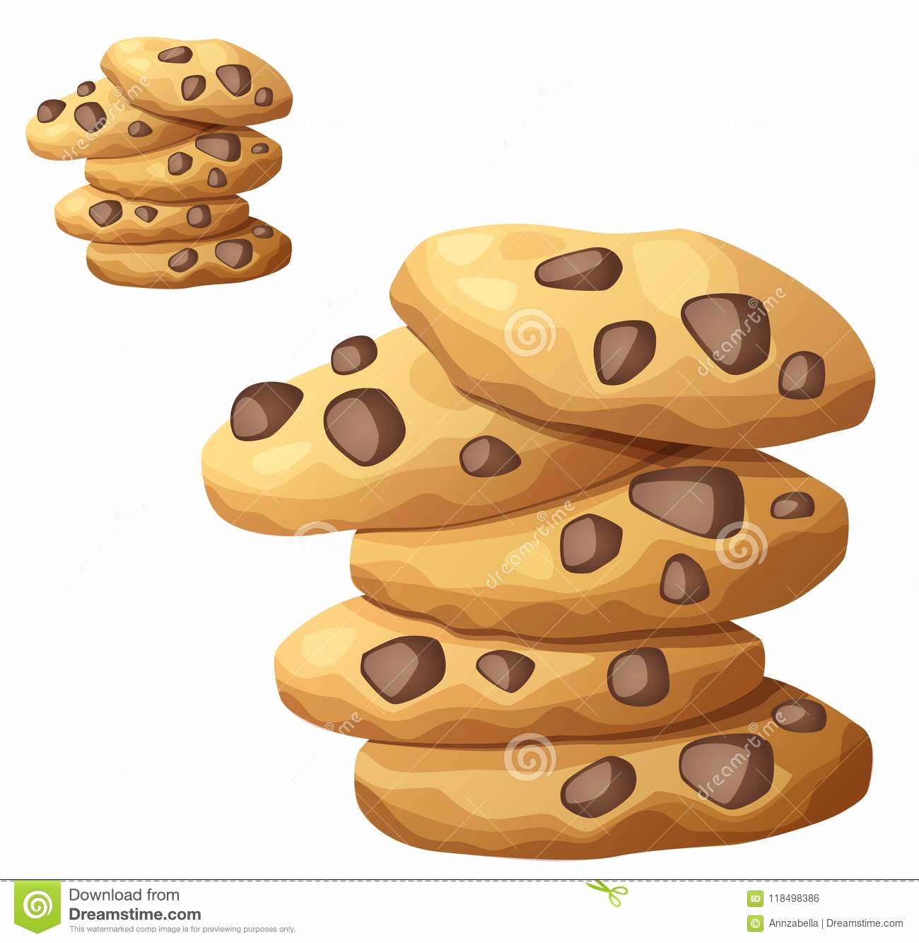 Chocolate Chip Cookie Vector at Vectorified.com.