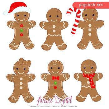 Gingerbread man Clipart Scrapbook printables clip art cookies vector  graphics.