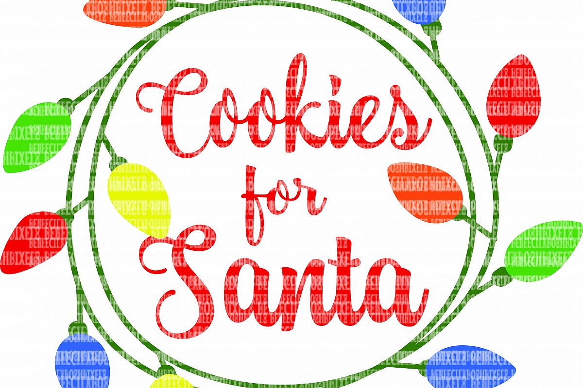 Cookies for Santa SVG Files for Cricut Design Space and Silhouette Studio  Christmas Cookie Plate DXF for Commercial Use Scrapbooking.